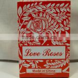 "Love Roses in 4"" glass tubes cute little gift,glass roses for sale"