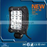 YTLB36J Quad rows high lumen led spot beam work light bar for boats,SUV, ATV,truck, boat, bus,tanks, etc
