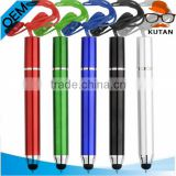 High quality business custom logo advertising pen,touch screen stylus pen,pen with string
