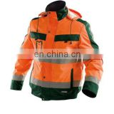 2017 high visibility safety plain bomber polar fleece jacket