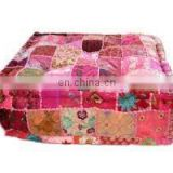 Exclusive Home Furnishing Cotton Ottoman Covers / Floor Stool / Square Pouf