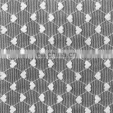Heart Lined Nylon Spandex Mesh Fabric for Women Apparel