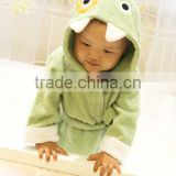 100% cotton breathable animal design baby bath robe/kids bath robes