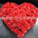 YR092 Top Quality Rose Flower Real Rex Rabbit Fur Cushions/Wedding Figt/valentine's Gift Fur Pillow