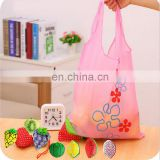 2017 hot style foldable shopping bag nylon gift strawberry