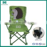Outdoor kids folding beach chair with pretty pattern