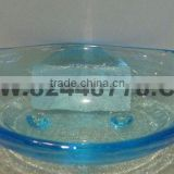 bathroom soap dish with glass