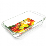 Rectangle glass baking dish