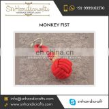 Result Oriented Monkey Fist Nautical Rope Keychain Available at Popular Price