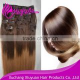XUCHANG factory price virgin human model hair extension wholesale
