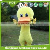 Factory custom high quality plush animal mascot costume clothing /plush duck costume