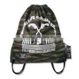 Hot shoulders camouflage canvas drawstring backpack bag