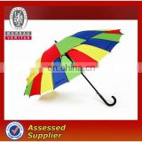 21 or 27 inch 16K 24K Corporation Rainbow Rain Straight Umbrellas Wholesale