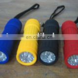 plastic 9 led flashlight torch for promotional case