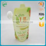 BPA free baby reusable food pouch with spout zipper                                                                         Quality Choice
