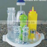 plastic turntable for kitchen and bathroom