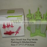 Plastic Ice Mould, Star Popsicle Mould