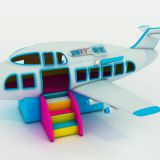 HLB-7053A Children Playground Equipment Kids Aeroplane Boarding Experience Mini Airliner