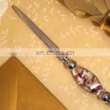 Murano Art Deco Lavender and Gold Swirl Letter Opener