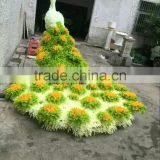 high color fastness new design animal factory UV proof grass peacock topiary