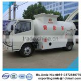 factory sale 4*2 dongfeng 120HP 4tons side lifting bins food garbage truck