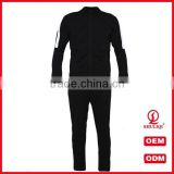 shuliqi factory custom gym skinny tracksuit wholesale men sports plain cotton tracksuit in black