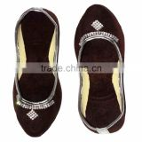 Rajasthani Brown Color Women Mojari