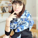 2014 women cheap price fashion style lovely long butterfly pashmina(PP085BL)