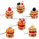 Promotional Gifts Phone Charms,Factory Direct Sale EVA Cake Mobile Phone Charm Pendant