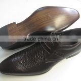 2015 leather dressing shoes for men made in China. Snakeskin genuine leather shoes