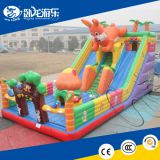 Amusement park playground inflatable bouncer castle inflatable castle with slide for sale