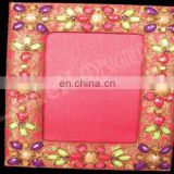 Designer Embroidered Handmade Beaded Fabric Photo Frame