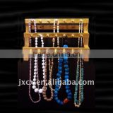 Counter top wood necklace display -2 tier