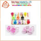 cute girls headband summer Open-toed baby sandal shoes