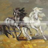 Palette Knife Oil Painting of Running Horses
