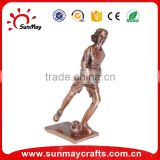 polyresin sports trophy for soccer ball