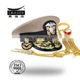 Gold mass-produced salute band officer headwear