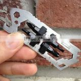 Multifunction Tool Wrench Lares Shark EDC Outdoor Eequipment with Four Screws CNC Stainless Steel Bike Precision Spoke Wrench