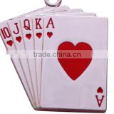 Special design poker shaped key chain Spades A shaped key chain New Arrival of Poker Key Chain