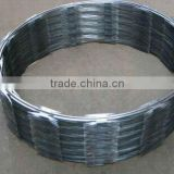 cross type galvanized razor barbed wire fence for military