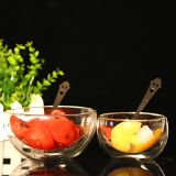 Double wall glass ice ream bowl fruit bowl  handmade microwave bowl wholesale bowl