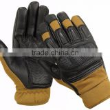 Leather Tactical Police Gloves Kevler hard knuckle Military protection