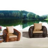 Leisure Sofa Set Outdoor PE Rattan Weave Alu Frame 10cm Cushion TaiWan Olifen Fabric