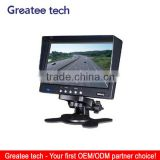 factory best 7 inch Stand-alone car monitor 2 way video input 2 way audio input