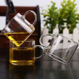 Mini glass cup for coffee and tea kungfu tea cup glass wine cup wholesale glass cup for resturant and hotel