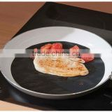 Non-stick reuseable round PTFE frying pan liner