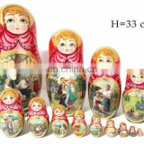 Summer Style Vinous Images Nesting Dolls Where To Buy Russian Dolls Stacking Dolls Educational Toys Wooden Set 15 pc