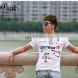 Peijiaxin Casual Style New Design Plane Printing T shirt Wholesale Cheap