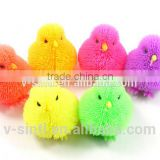 Easter Puffer chick, TPR Easter Chicken Animal ,Light up puffer animal