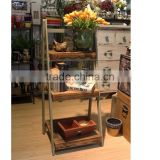 Useful wooden display rack/dispaly shelves for flowers